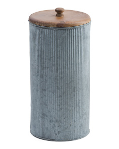 12in Galvanized Canister