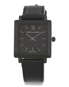 Women's Swiss Made Norse Leather Strap Watch