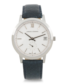 Women's Swiss Made Saxon 33mm Leather Strap Watch