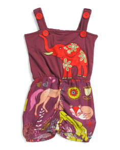 Baby Girls Embroidered Elephant Romper