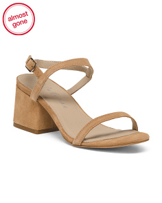 Made In Brazil Ankle Strap Suede Sandals