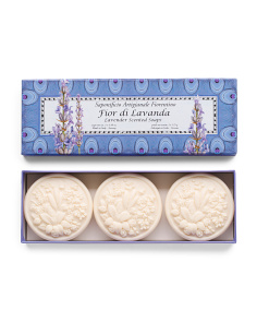 3pc Lavender Peacock Bar Soaps