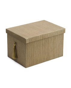 Medium Lidded Storage Box With Tassel