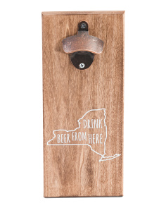New York Wooden Bottle Opener