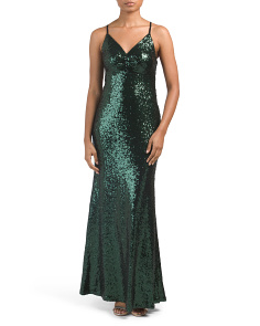 Juniors Sequin Gown