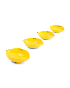 Lemon Stoneware Measuring Cup Set