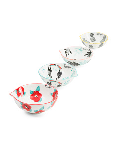 Tropical Stoneware Measuring Cup Set