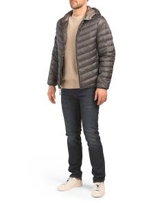 Hooded Packable Down Jacket