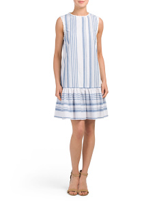 Stripe Flounce Dress