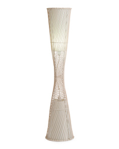 55.5in Rattan Floor Lamp