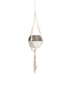 Large Woven Hanging Planter
