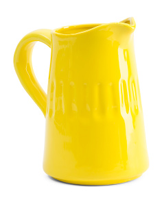 9in Embossed Pitcher