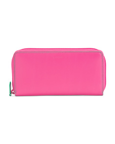 Audrey Ada Leather Zip Wallet