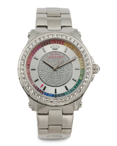 Women's Pedigree Bracelet Watch With Multi Colored Dial Accent