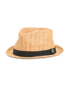 Straw Trilby With Contrast Band