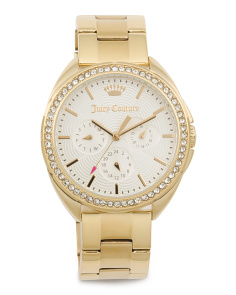Women's Capri Crystal Bezel Bracelet Watch
