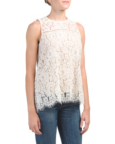 Floral Scalloped Edge Tank