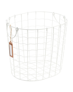 Small Metal Deco Weave Storage Basket