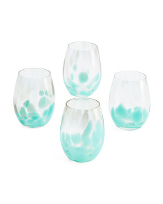 4pk Simone Stemless Wine Glasses