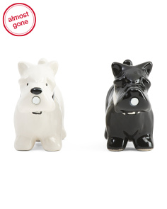 Magnetic Salt & Pepper Puppies Set