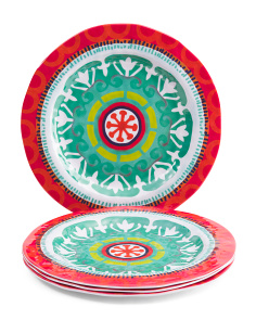 Set Of 4 Fiesta Melamine Dinner Plates