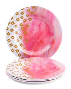 Set Of 4 Soiree Melamine Salad Plates