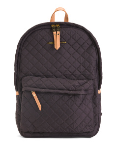 Quilted Backpack With Workbook Sleeve