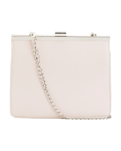 Framed Shoulder Bag With Chain Strap
