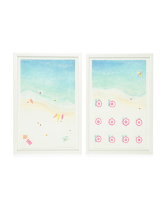 32x24 Aerial Beach Framed Wall Art