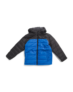 Big Boys Puffer Jacket With Sherpa Lining