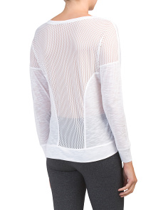 Mesh Inset Impulse Pullover Top