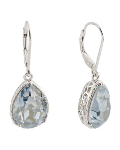 Sterling Silver Swarovski Teardrop Crystal Earrings