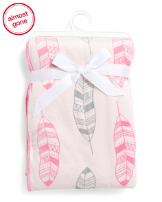 Baby Girls Plush Feather Blanket