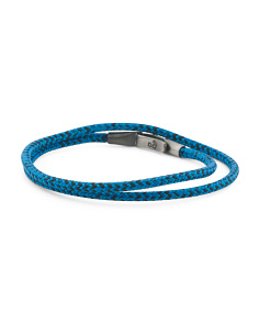 Made In Great Britain 925 Blue Noir Liverpool Rope Bracelet
