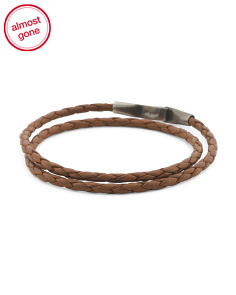 Made In Great Britain 925 Light Brown Liverpool Leather Bracelet