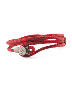 Made In Great Britain 925 Red Noir Dundee Rope Bracelet