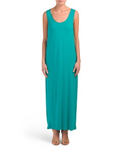 Made In Usa Twist Back Maxi Dress