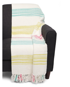 Fish Stripe Fringe Throw