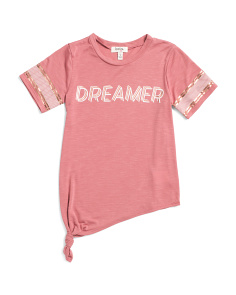 Big Girls Dreamer Athleisure Tie Up Top