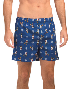 Holiday Dog Printed Boxers