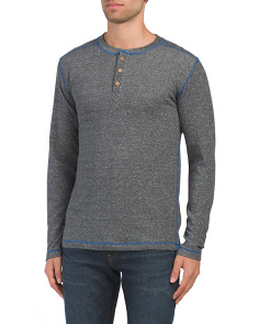 Heathered French Terry Henley Shirt