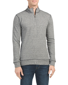 Marled French Terry Quarter Zip