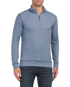 Ribbed Quarter Zip Top