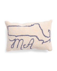 12x18 Ma Map Hook Pillow