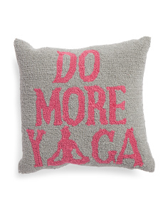 16x16 Do More Yoga Hook Pillow