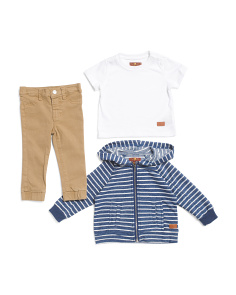 Toddler Boys 3pc Hoodie Tee & Jogger Set