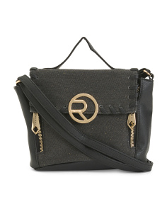 Whipstitch Textured Crossbody