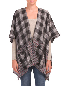 Multi Plaid Ruana
