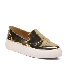 Metallic Slip On Sneakers
