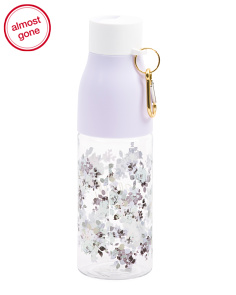 Floral Plastic Water Bottle